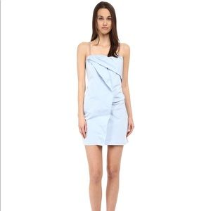 Marc by Marc Jacobs blue fold drape dress